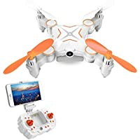 RC Mini Drone LESHP RC Quadcopter RC Helicopter Toys Portable 6-AXIS RC Quadcopter FPV Foldable RC Mini Drone with WIFI 0.3MP Camera 2.4G 6-AXIS Transmitter Remote Controller