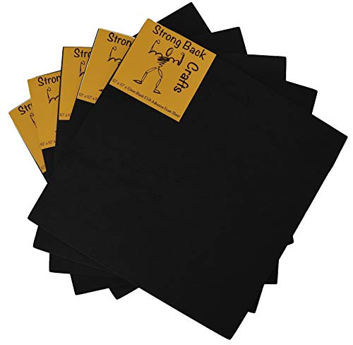 "5 PACK 10mm EVA Self adhesive foam sheets --10mm (5 Pack)--10in x 10in (10"" x 10"") by 10mm (1cm) thick ""Cement-Hold"" Extra-- Strong back crafts"