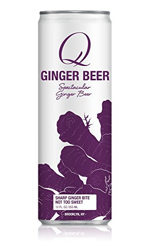 Q Drinks, Q Ginger Beer, Spectacular Ginger Beer, 12 Ounce Slim Can (Pack of 12)