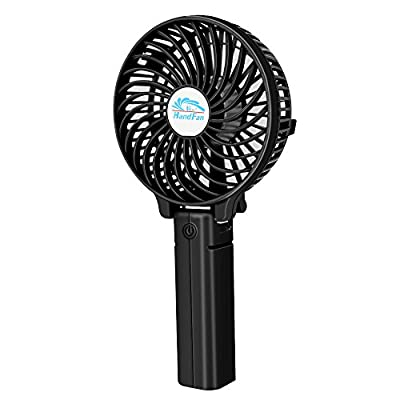 VersionTECH. Mini Handheld Fan, Personal Portable Desk Stroller Table Fan with USB Rechargeable Battery Operated Cooling Folding Electric Fan for Office Room Outdoor Household Traveling