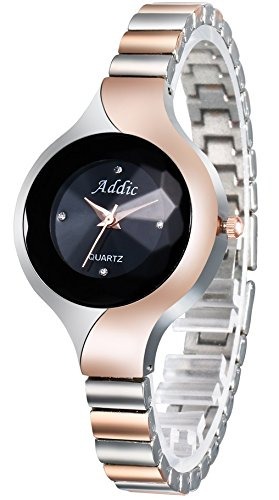 c701537b5 Image Unavailable. Image not available for. Colour  Addic Analogue Black Dial  Women s   Girl s Watch ...