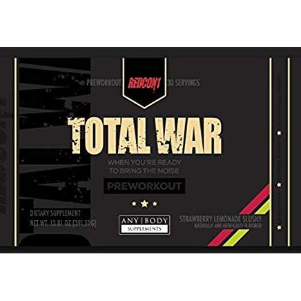 Total War - Pre Workout - 30 Servings - Newly Formulated (Strawberry Lemonade Slushy)   Limited Edition Any Body Supplements Exclusive by Redcon1 (Image #5)