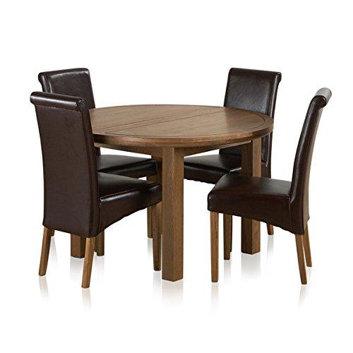 Muebles de Roble Land Knightsbridge 4 ft rústico de Roble Macizo ...