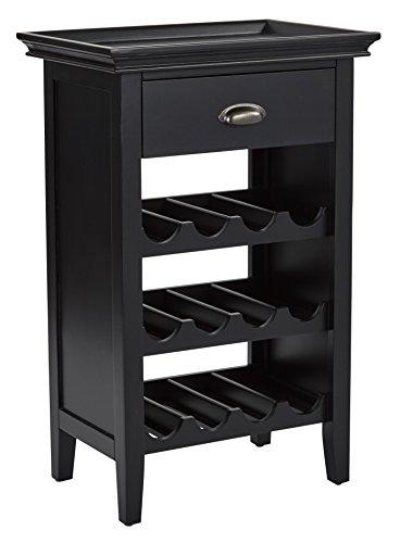 INSPIRED by Bassett BP-PORTWC-AC11-osp Portofino Wine Cabinet, Brushed Black