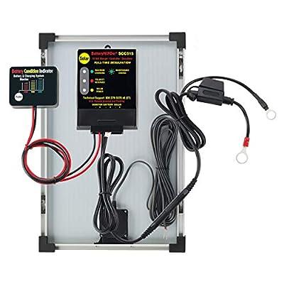 BatteryMINDer Solar Battery Charger/Trickle Charger/Desulfator - 12 Volt, 1.25 Amp, Includes 15 Watt Solar Panel, Model Number SCC-015 : Battery Minder : Garden & Outdoor
