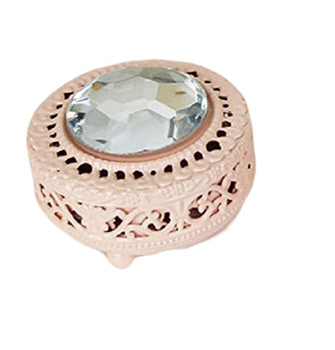 Mini Circular decorative Jewelry Box organizer (Pink)