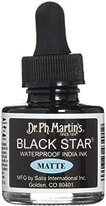 Dr. Ph. Martin's Black Star India Ink, 1.0 oz, Black, Matte