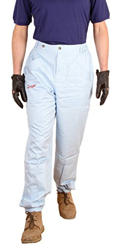 (Suixtil Men's 100% Fine Cotton Twill Original Race Pant, Argentine Blue, 36/34)