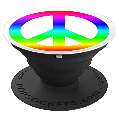 Watch Ladies Allies (Peace Sign PopSocket Kids Women Men Gay Pride Rainbow - PopSockets Grip and Stand for Phones and Tablets)