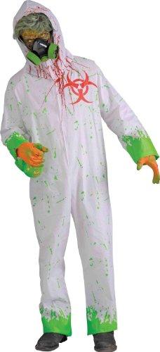[Forum Novelties Men's Biohazard Zombie Hazmat Suit, White, One Size] (Biohazard Costumes)