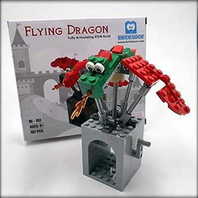 Brick Loot Flying Dragon Castle STEM Building Kit Set 100% Compatible with Major Brands: Toys & Games