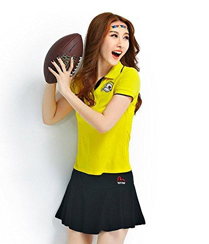 「ReiRei」レディース可愛い スポーツウェア上下 スーツ 運動着 Tシャツ 半袖 ミニスカート テニスウェア
