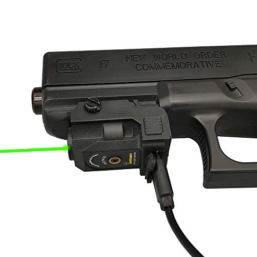 Infilight Green Laser Sight, Compact Green Laser Dot Sight Scope Adjustable Low Profile Picatinny Rail 0.07 Inches Mount Laser Sight with Rechargeable Battery Pistols & Handguns (L101G Green Laser)