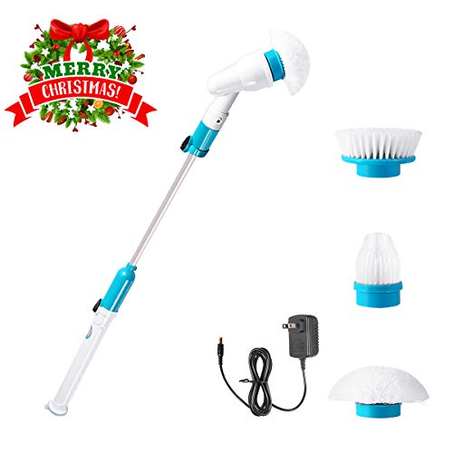 Vandora Spin 360 Cordless Tub and Tile Scrubber, Multi-Purpose Power Surface Cleaner with 3 Replaceable Cleaning Brush Heads, 1 Extension Arm and Adapter