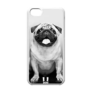 Head Case Designs Cute Male Pug Popular Dog Breeds Soft Gel Back Case Cover TPU Phone case cover for iphone5c white