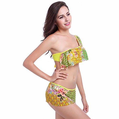 Pinkyee - Conjunto - para mujer amarillo