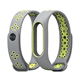 HighlifeS For Xiaomi Mi Band 2 Bracelet, Replacement Strap Wristband Accessories for Xiaomi Mi Band 2 Smart Watch (Grey)