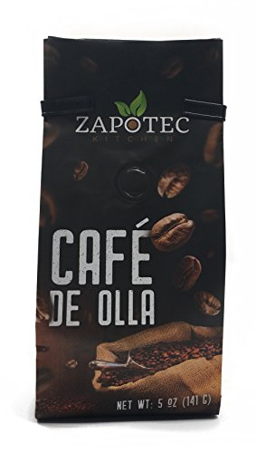 Cafe Kitchen - Zapotec Kitchen Premium Roast Ground organic Coffee, (not instant) Oaxacan Cafe De Holla Boils With Water