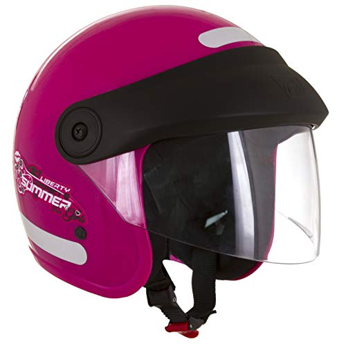 Pro Tork Capacete Liberty Compact Summer For Girls 58 Rosa