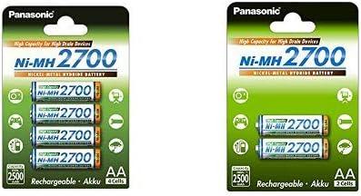 Panasonic High Capacity Akku Ni Mh 2700 Aa Mignon Elektronik