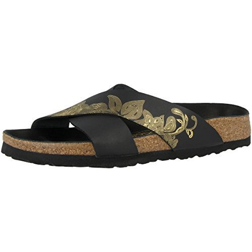 Leather 1009085 Womens Black Papillio Ornaments Ornaments Smooth Daytona Sandals gold IxHHC