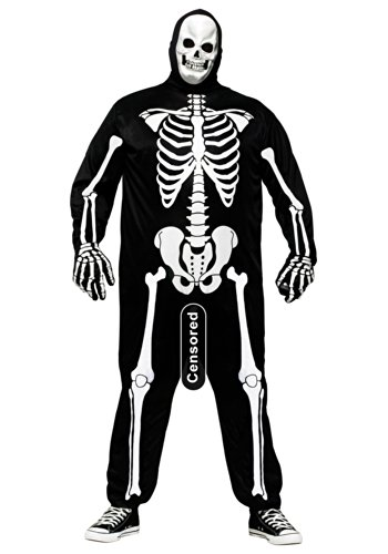 Fun World Men's Skeleboner Plus Size Adult Costume, Multi, -