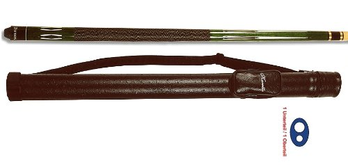Top-Angebot!!! Billardqueue Tycoon, TC-4 grün, Länge ca. 147 cm, 2-tlg. + Köcher Karella 1/1 schwarz