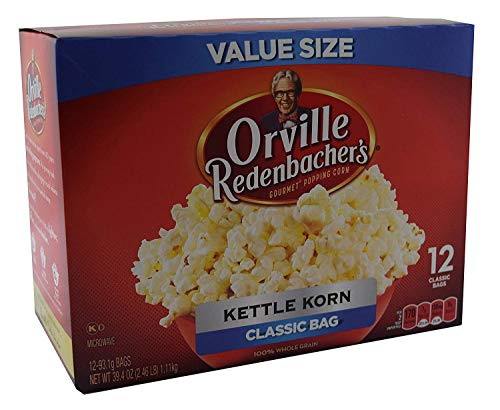 (Orville Redenbachers Kettle Korn Classic Bag, 12-Count Box)