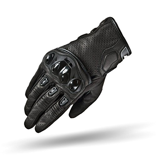 Shima SPARK, KNOX Protective Sport Air Flow Goat Perforated Leather Motorbike Gloves (S-XXL), Black, Size:XXL