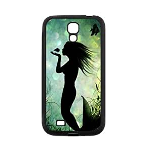 FEEL.Q- Custom Rubber Back Fits Cover Case for Samsung Galaxy S4 S IV I9500 - Vintage Mermaid