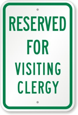 Amazon.com: Reservado para el cartel visitante Clergy, 18.0 ...