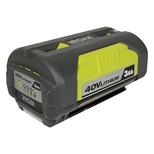 - Ryobi OP4030 40V 3.0Ah Lithium ion Battery w/ Fuel Gauge