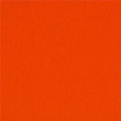 60'' Wide Sweater Fleece Blaze Orange Fabric By The Yard