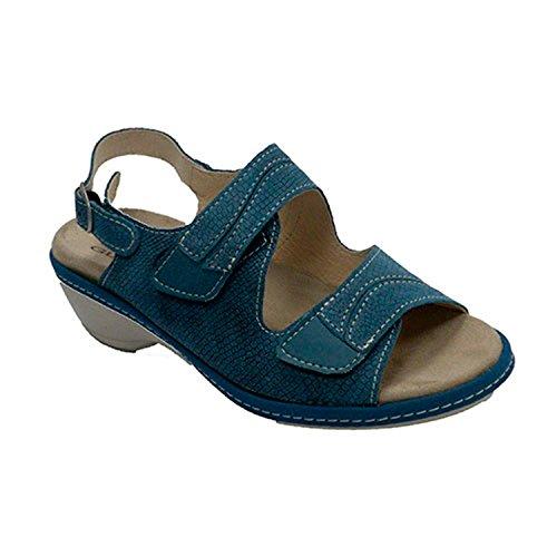 Made Velcro avec Sandales Bleu Spain Lumel en In Femme qRrqaSv