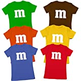 M Chocolate Candy Costume Outfit Funny Group Halloween Set Womens Shirt X-Large Gold