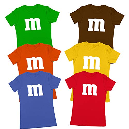 Green M And M Costume (M Chocolate Candy Halloween Costume Outfit Funny Group Cool Party Womens Shirt Small)