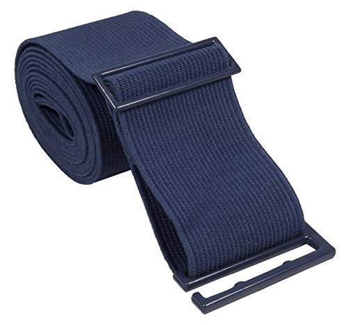 Gelante Lady Invisible Belt - Web Canvas Elastic Adjustable Skinny No Show Belt-2051-Navy ()