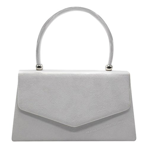 Prom Ladies Party Wedding Suede Handbag Envelope 1 Women Bridal Shoulder Handbag Clutch Crossbody Purse Bag White Bag Wocharm Evening 5P7OnTxwq7