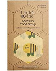 Beeswax Food Wraps | Reusable, Eco-Friendly, Sustainable | Assorted 3 Pack - 1 Small, 1 Medium, 1 Large …