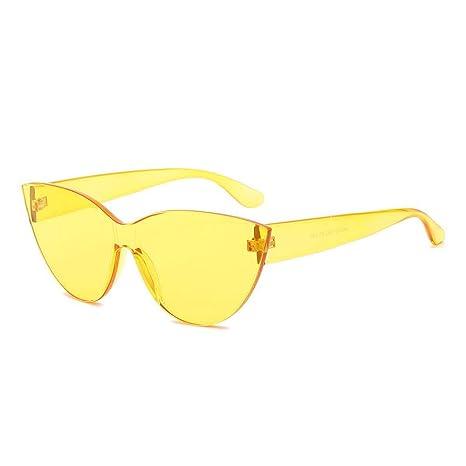 FOONEE - Gafas de Sol sin Montura para Mujer, Transparente ...