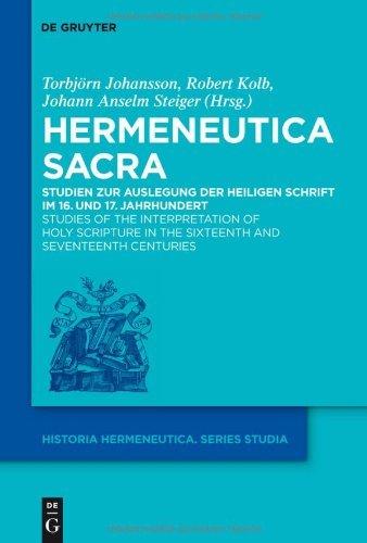 Hermeneutica Sacra (Historia Hermeneutica. Series Studia) (German Edition)