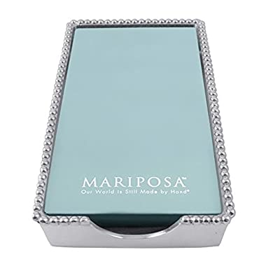Mariposa 2242-G Beaded Guest Towel Box, One Size, Aluminum