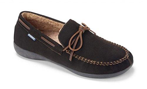 Vionic Dewey Mens Indooroutdoor slipper moccasin Brown - 9