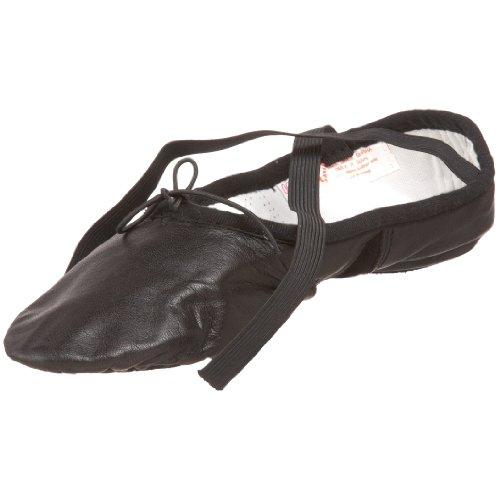 Sansha Silhouette Leather Ballet Slipper Black po4dG