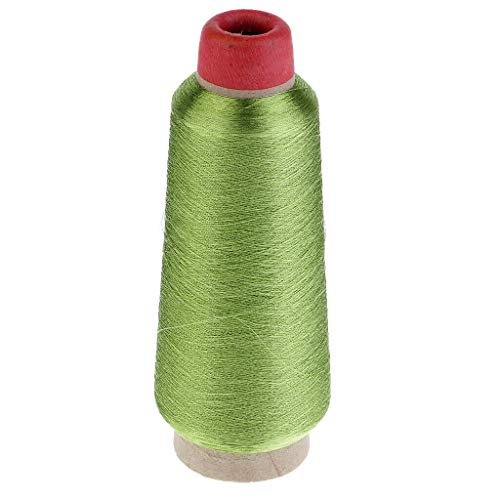 MOPOLIS 3000 Meters Metallic Embroidery Thread Spools Cones for Needlepoint Supplies | Color - Light Green