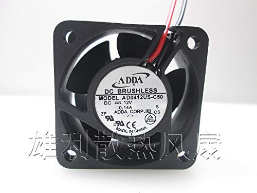 REFIT AD0412UB-C50 12V 0.14A 4CM 4020 2-Wire Power Supply Cooling Fan