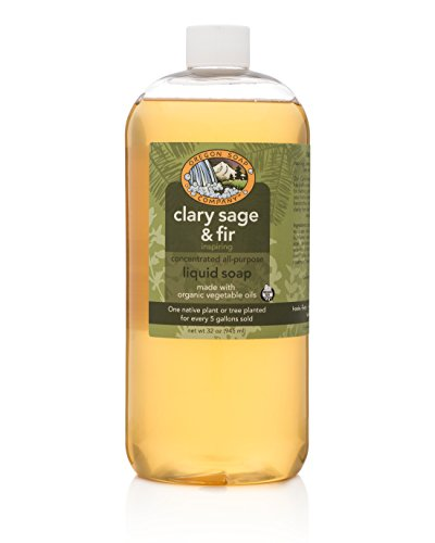 (Oregon Soap Company - Liquid Castille Soap, Certified Organic and Natural Ingredients, Concentrated Multipurpose Clary Sag & Fir Castile Soap (32 oz, Clary Sage & Fir))