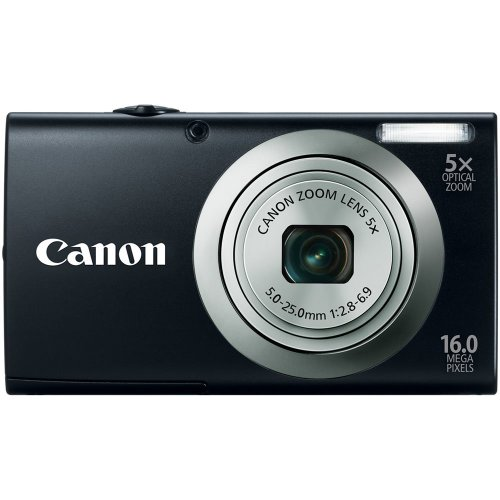 Canon PowerShot A2300 IS 16.0 MP Digital Camera with 5x Digital Image Stabilized Zoom 28mm Wide-Angle Lens with 720p HD Video Recording (Black) with Mini Tool Box (cog) 720p Digital Image