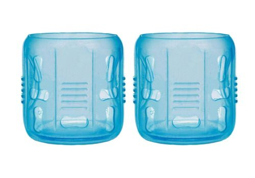 2x Silicone Sleeves for 5oz. Glass Bottles (BLUE)