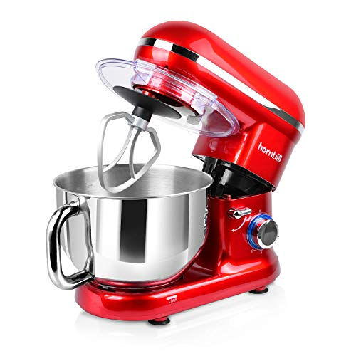 Hornbill Tilt-head Stand Mixer, Electric Mixer 600W 6-Speed
